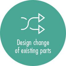 Design change of existing parts