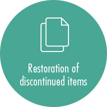 Restoration of discontinued items