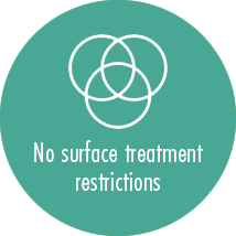 No surface treatment restrictions