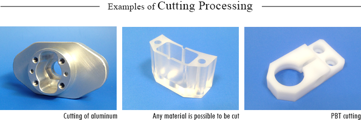 Examples of cutting processing