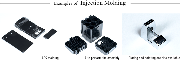 Examples of injection molding