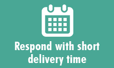 Respond with short delivery time